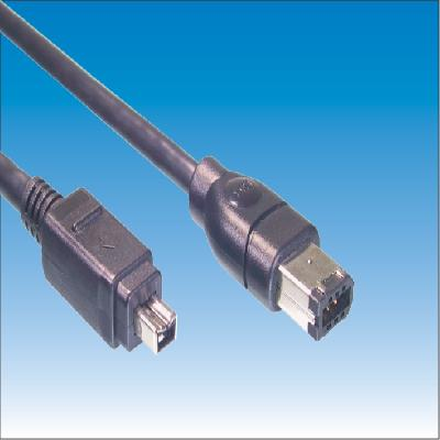 IEEE1394B 6P Male TO 4P Male Cable